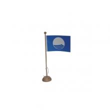 Petit Pavillon Bleu sur mât - lot de 5
